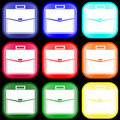 Icon Of A Briefcase On Buttons Royalty Free Stock Images - 5051439
