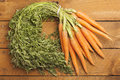 Bunch Of Carrots On Wood Royalty Free Stock Image - 50500836