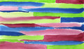 Watercolor Hand Painted Red Blue Green Stripes Stock Photo - 50504590