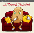A Couch Potato Royalty Free Stock Photos - 50510258