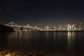 Skyline Of San Francisco By Night Stock Images - 50518754