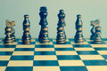 Chess Set Retro Photo With Chess Board. Stock Photography - 50523482