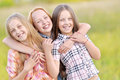 Portrait Of Joyful Beautiful Girlfriends Stock Images - 50525114