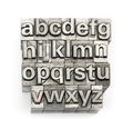 Letterpress - Block Letter English Alphabet And Number Royalty Free Stock Photography - 50525607