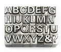 Letterpress - Block Letter English Alphabet And Number Royalty Free Stock Image - 50525976