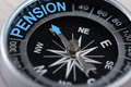 Compass Indicating Pension Stock Images - 50539064