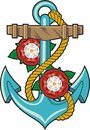 Anchor And Roses Royalty Free Stock Image - 50542646