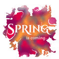 Wake Up. Spring Is Coming Lettering On Unfocused Stock Images - 50547884