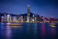Night Scene Of Hong Kong Island Royalty Free Stock Image - 50551086