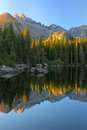 Sunrise On Bear Lake In Rocky Mountain National Park Stock Image - 50555421