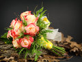 Hand Tied Rose Bouquet Close Up Stock Photo - 50562980