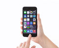 Isolated Phone IPhone 6 Space Gray In A Woman Hands Royalty Free Stock Image - 50565226