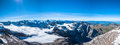 Panorama View Of Swiss Alps Stock Photography - 50573342