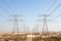 High Voltage Power Line In Jebel Ali, Dubai Royalty Free Stock Images - 50581069