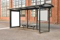 Bus Stop Travel Station Stock Images - 50586514