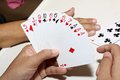 Playing Cards In Hand Royalty Free Stock Photos - 50588448