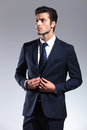 Attractive Young Business Man Looking Up Royalty Free Stock Photography - 50590817