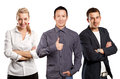 Teamwork And Business Man Shows Well Done Royalty Free Stock Photos - 50596228