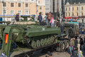 Children Play On Modern Russian Armored Vehicle. Stock Images - 50597324