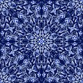 Seamless Floral Pattern Of Circular Ornaments. Dark Blue Background In The Style Of Chinese Painting On Porcelain. Royalty Free Stock Photos - 50598178