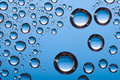 Blue Big Water Drops Stock Image - 5063811