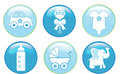Baby Boy Buttons Royalty Free Stock Image - 5068316