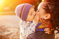 Mom And Son Having Fun By The Lake Stock Images - 50611114