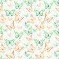 Colorful Butterflies Seamless Pattern Royalty Free Stock Photo - 50622145