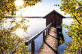 Old Wooden Boathouse Royalty Free Stock Image - 50622886