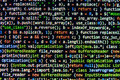 Coding Programming Source Code Screen. Colorful Abstract Data Display. Software Developer Web Program Script. Royalty Free Stock Image - 50624126
