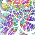 Multicolored Fabulous Fractal Pattern. Collection - Tree Foliage Stock Photography - 50643592