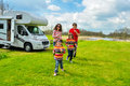 Family Vacation, RV (camper) Travel In Motorhome With Kids Stock Photo - 50644690