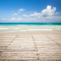 Wooden Pier And Blurred Sea Landscape On A Background Stock Image - 50671391