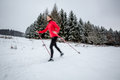 Cross-country Skiing: Young Woman Cross-country Skiing Stock Photos - 50684393