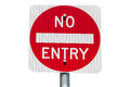 No Entry Road Sign Stock Photo - 50694210