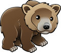 Cute Grizzly Brown Bear Vector Royalty Free Stock Image - 5078906