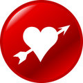 Heart With Arrow Vector Button Royalty Free Stock Photography - 5079197