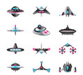 Different Types Of Spaceships Royalty Free Stock Image - 50700046