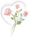 Roses With Heart Royalty Free Stock Image - 50701236