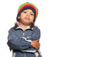 Little Multiracial Girl With A Hip Hop Artist Look Royalty Free Stock Photo - 50705485
