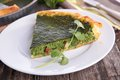 Tart With Spinach Stock Image - 50716931