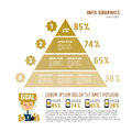 Vector Pyramid For Infographic Stock Photo - 50735090