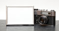 Vintage Camera And Photo Royalty Free Stock Photography - 50750997