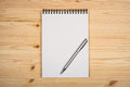 Blank Notepad With Pen Stock Photo - 50754200