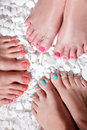 Colorful Painted Toes Stock Photography - 50755442