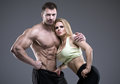 Sexy Pair Of Athletic People Royalty Free Stock Photo - 50755805