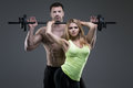 Sexy Exerciser Couple Royalty Free Stock Image - 50755916