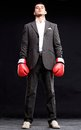 Business Man Ready To Fight With Boxing Gloves - Isolated Stock Image - 50756041