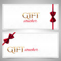 Vector Gift Vouchers With Red Bows Stock Photos - 50757123