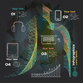 Infographics With Sound Waves And Devices On A Dark Background Stock Image - 50768471